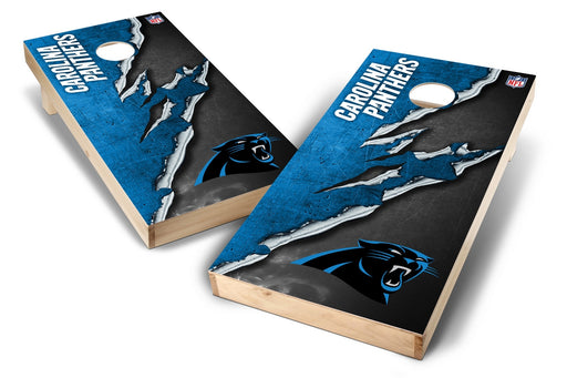Carolina Panthers 2x4 Cornhole Board Set - Ripped