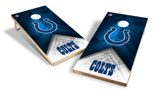 Indianapolis Colts 2x4 Cornhole Board Set - Weathered