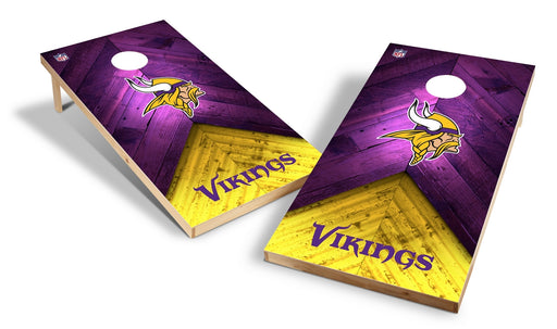 Minnesota Vikings 2x4 Cornhole Board Set - Weathered