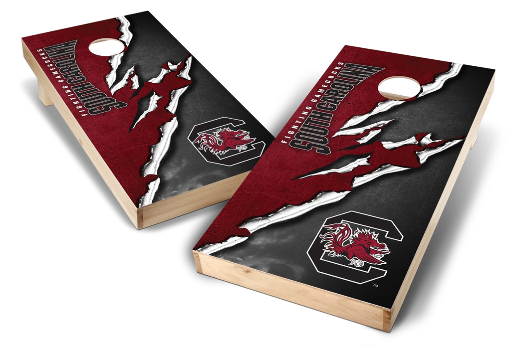 South Carolina Gamecocks 2x4 Cornhole Board Set - Ripped