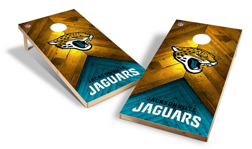 Jacksonville Jaguars 2x4 Cornhole Board Set - Weathered