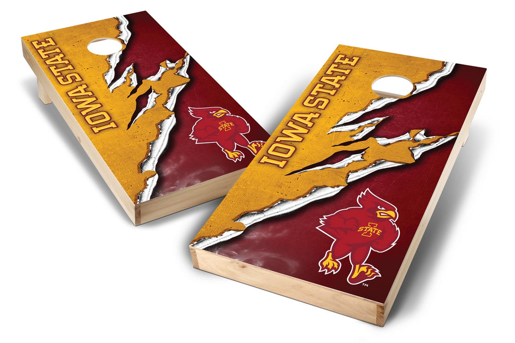 Iowa State Cyclones 2x4 Cornhole Board Set - Ripped