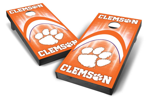 Clemson Tigers 2x4 Cornhole Board Set Onyx Stained - Arch