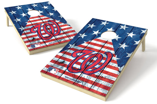 Washington Nationals 2x3 Cornhole Board Set - American Flag