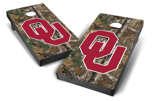 Oklahoma Sooners 2x4 Cornhole Board Set Onyx Stained - Xtra Camo