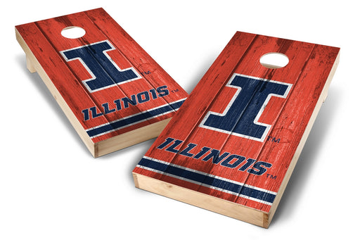 Illinois Fighting Illini 2x4 Cornhole Board Set - Vintage