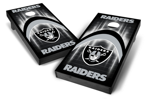 Oakland Raiders 2x4 Cornhole Board Set Onyx Stained - Arch
