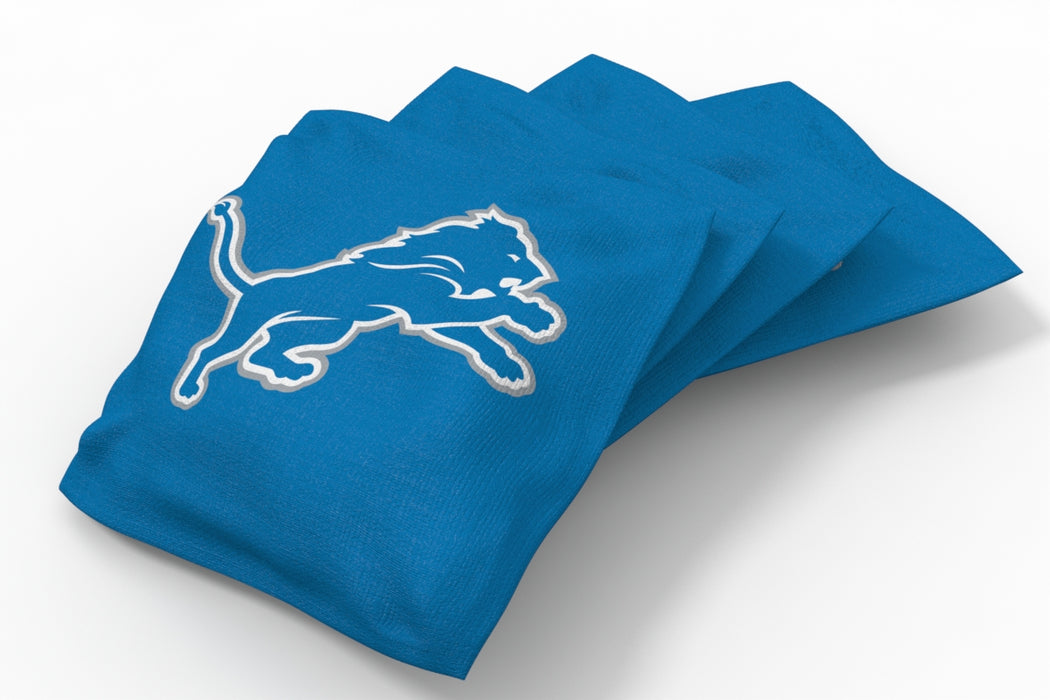 Detroit Lions 2x4 Cornhole Board Set Onyx Stained - Hot