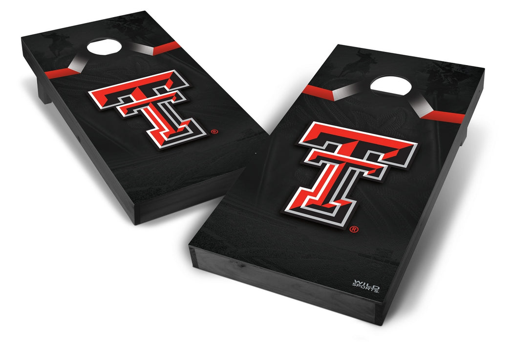 Texas Tech Red Raiders 2x4 Cornhole Board Set Onyx Stained - Wild