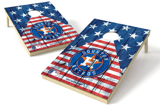 Houston Astros 2x3 Cornhole Board Set - American Flag