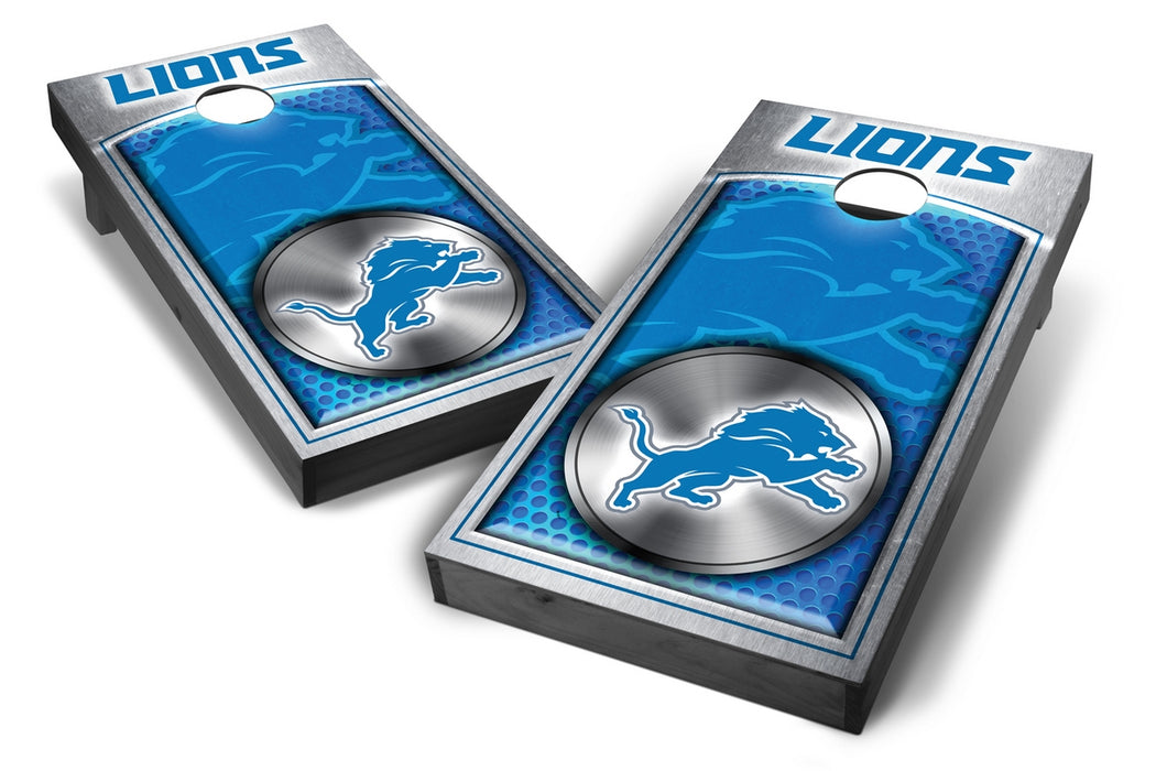 Detroit Lions 2x4 Cornhole Board Set Onyx Stained - Medallion