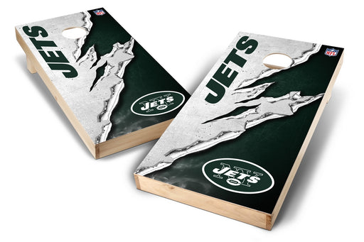 New York Jets 2x4 Cornhole Board Set - Ripped