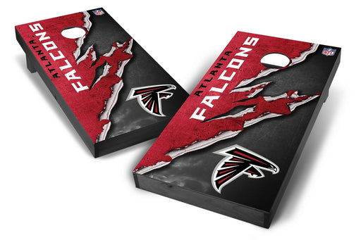 Atlanta Falcons 2x4 Cornhole Board Set Onyx Stained - Ripped
