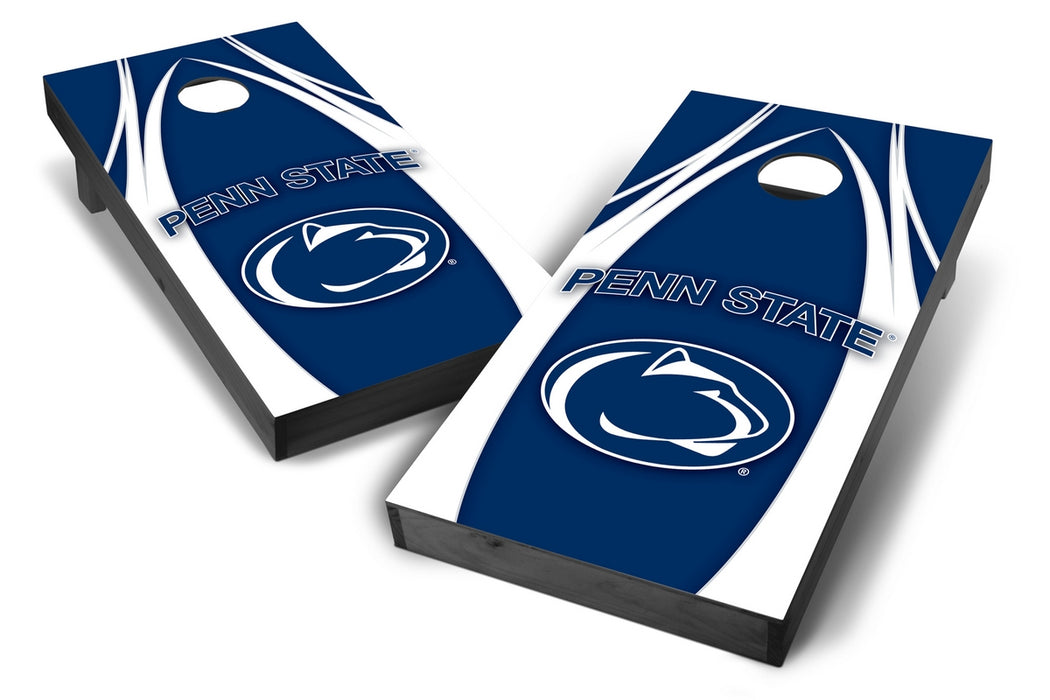 Penn State Nittany Lions 2x4 Cornhole Board Set Onyx Stained - Edge