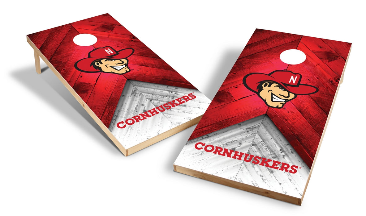 Nebraska Cornhuskers 2x4 Cornhole Board Set - Weathered