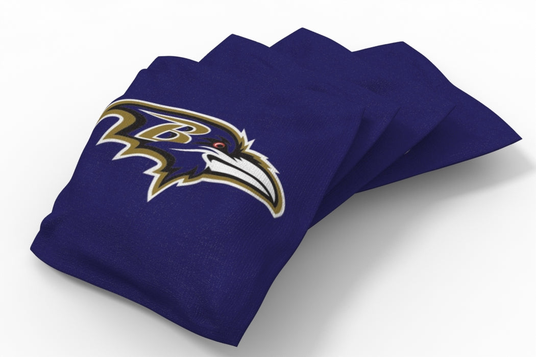 Baltimore Ravens  Solid Bean Bags - 4pk
