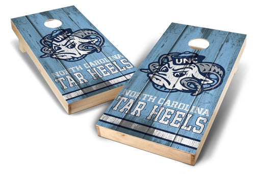 North Carolina Tar Heels 2x4 Cornhole Board Set - Vintage