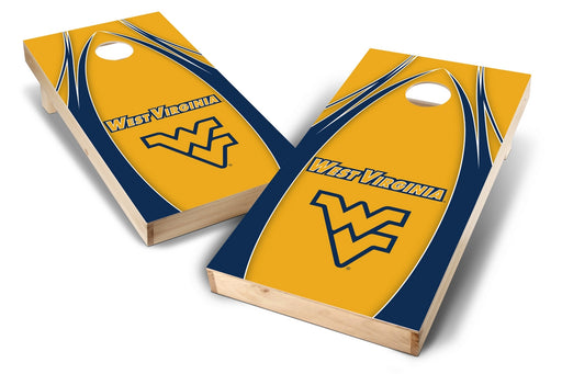 WVU Mountaineers 2x4 Cornhole Board Set - Edge