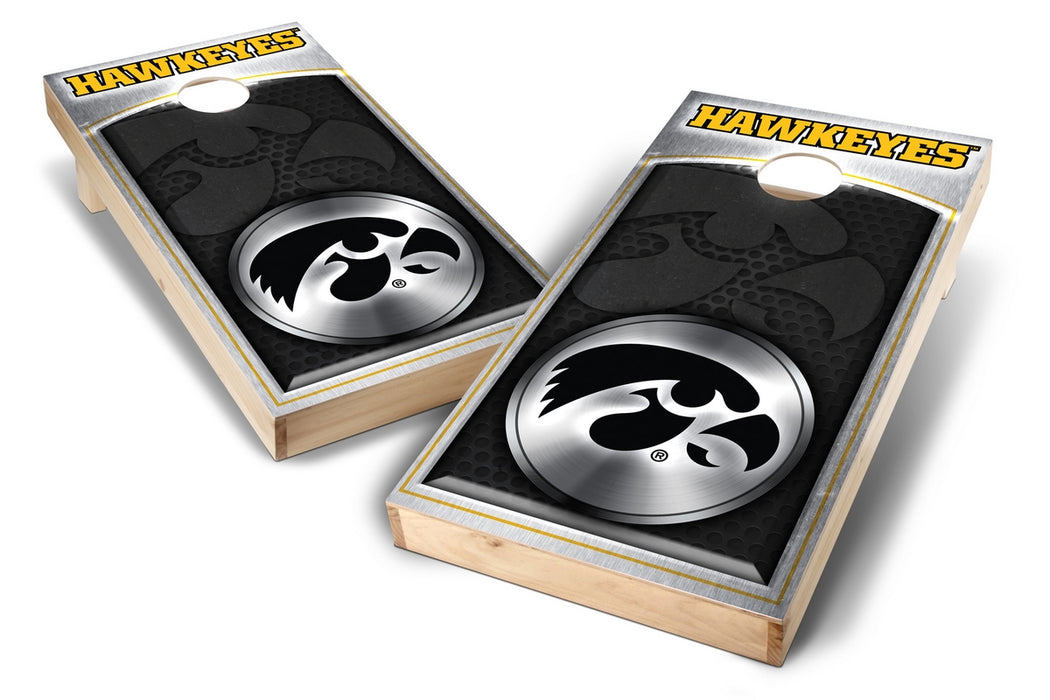 Iowa Hawkeyes 2x4 Cornhole Board Set - Medallion