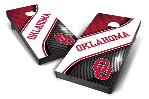 Oklahoma Sooners 2x4 Cornhole Board Set Onyx Stained - Swirl