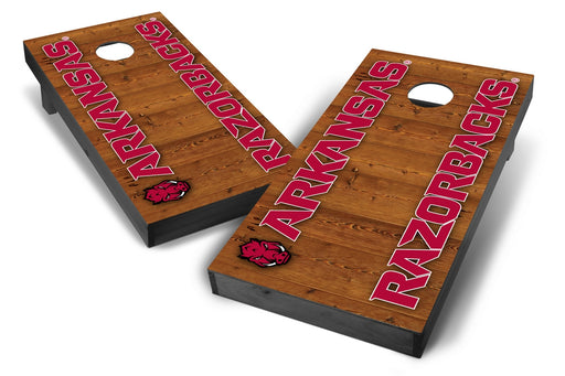 Arkansas Razorbacks 2x4 Cornhole Board Set Onyx Stained - Vertical