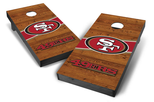 San Francisco 49ers 2x4 Cornhole Board Set Onyx Stained - Logo