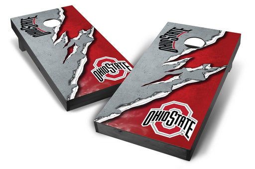 Ohio State Buckeyes 2x4 Cornhole Board Set Onyx Stained -  Ripped