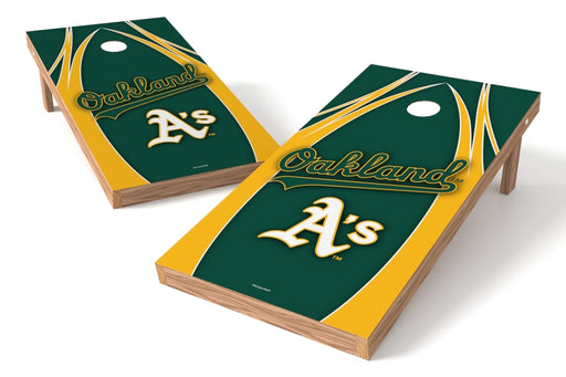 Oakland Athletics 2x4 Cornhole Board Set - Edge