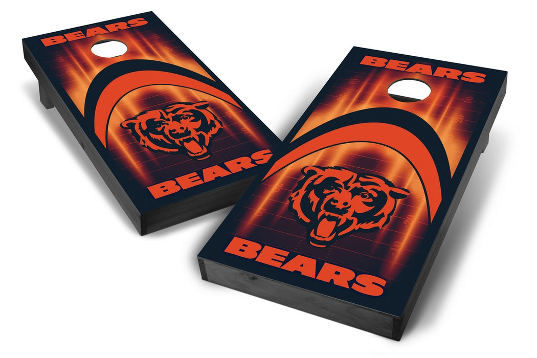 Chicago Bears 2x4 Cornhole Board Set Onyx Stained - Arch