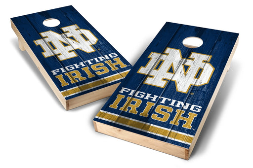 Notre Dame Fighting Irish 2x4 Cornhole Board Set - Vintage