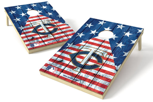 Minnesota Twins 2x3 Cornhole Board Set - American Flag