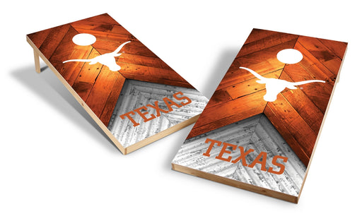 Texas Longhorns 2x4 Cornhole Board Set - Weathered
