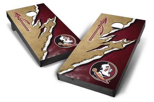 Florida State Seminoles 2x4 Cornhole Board Set Onyx Stained -  Ripped