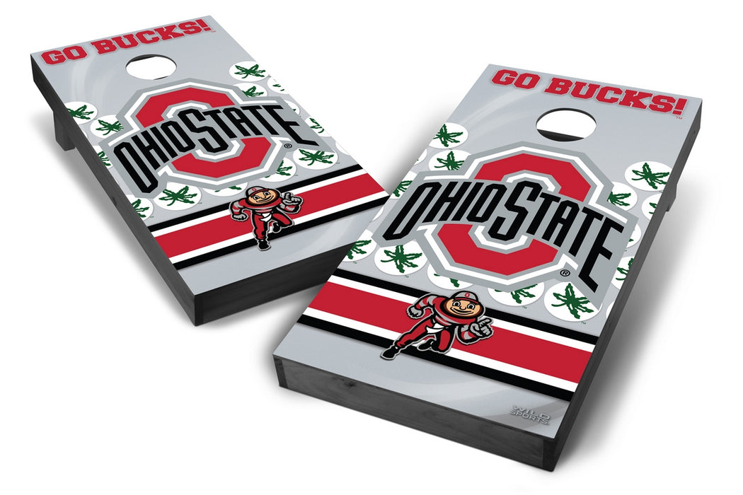 Ohio State Buckeyes 2x4 Cornhole Board Set Onyx Stained - Wild