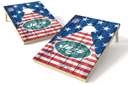 New York Jets 2x3 Cornhole Board Set - American Flag