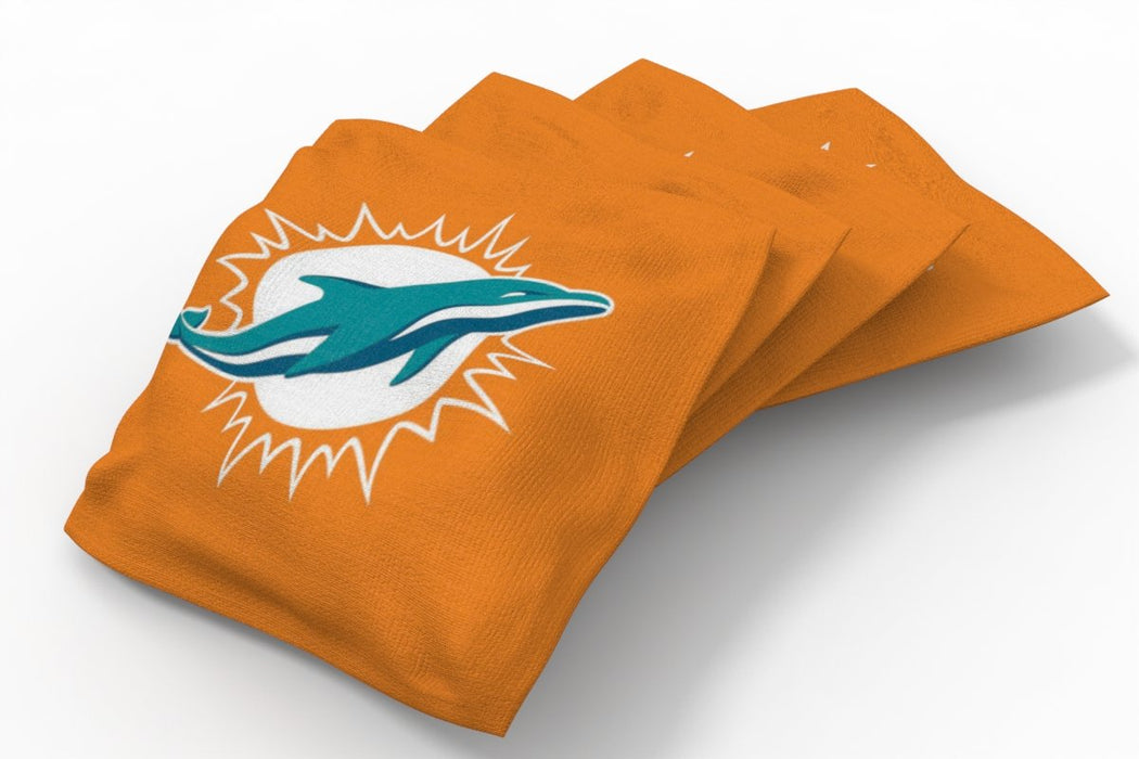 Miami Dolphins 2x4 Cornhole Board Set - Weathered