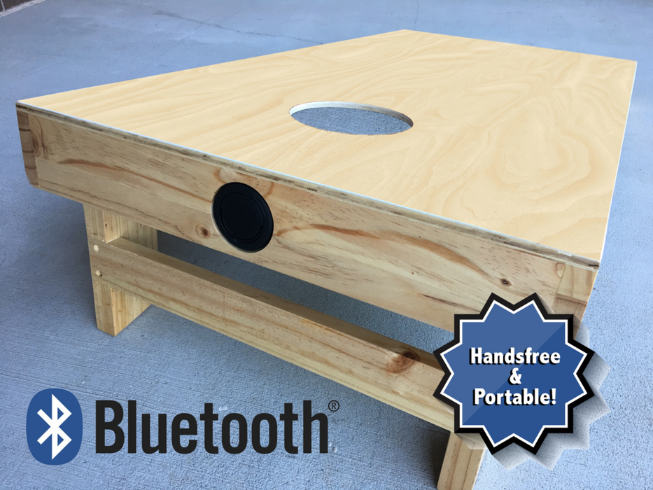Official Licensed Team Cornhole Board Built-in Bluetooth PRO-JAM Speaker Option