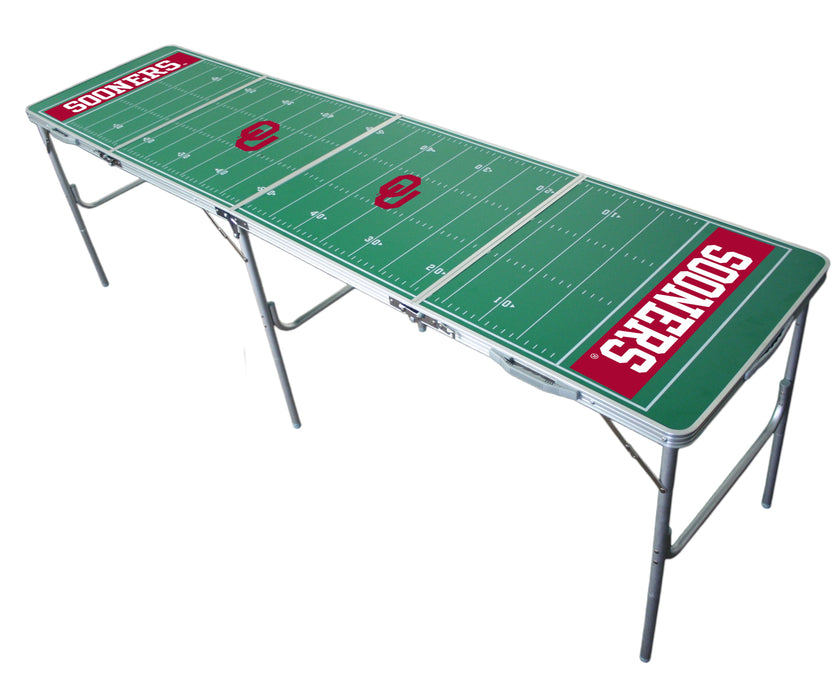 Oklahoma Sooners NCAA 2' x 8' Travel Tailgate Table