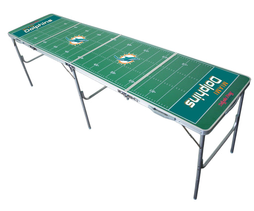 Miami Dolphins NFL 2' x 8' Travel Tailgate Table