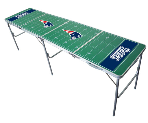 New England Patriots NFL 2' x 8' Travel Tailgate Table