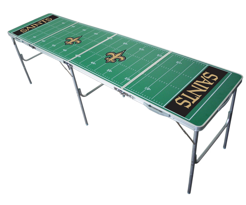 New Orleans Saints NFL 2' x 8' Travel Tailgate Table