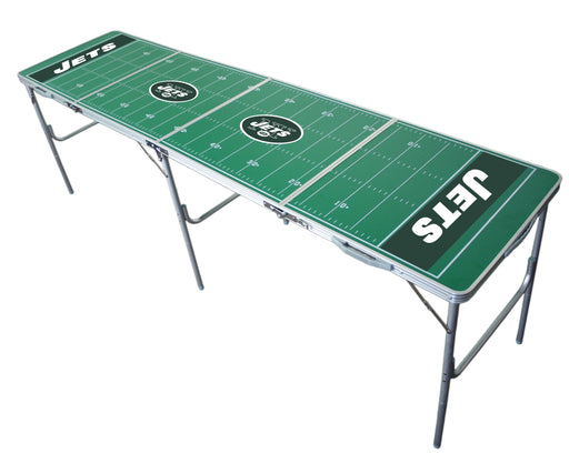 NY Jets NFL 2' x 8' Travel Tailgate Table