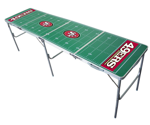 San Francisco 49ers NFL 2' x 8' Travel Tailgate Table