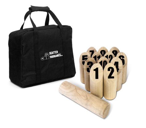 Scatter Number Block Tossing Game with Durable Carrying Case and Printed Numbers