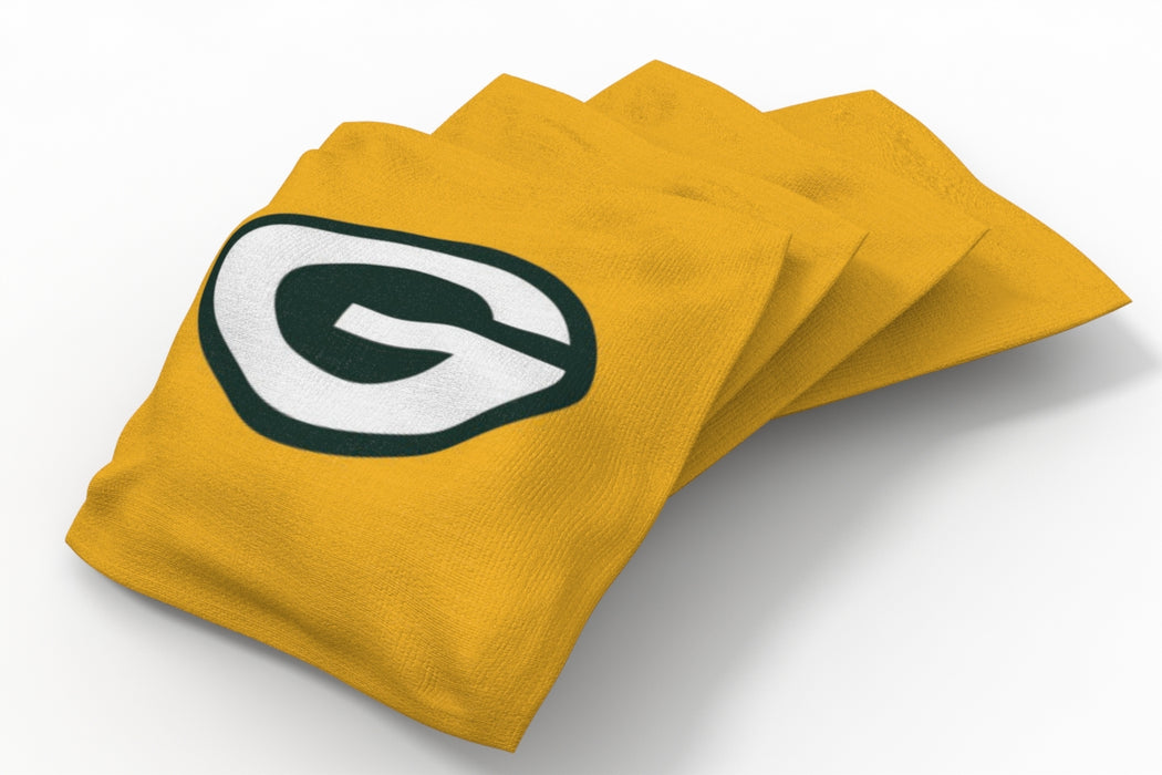 Green Bay Packers 2x4 Cornhole Board Set Onyx Stained - Logo