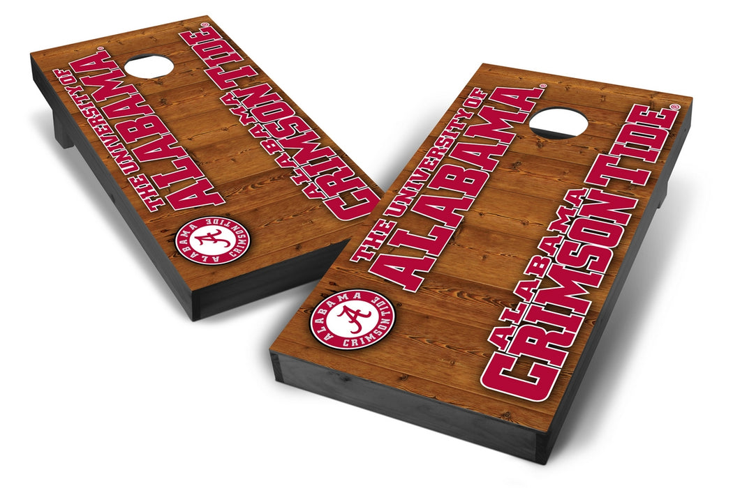 Alabama Crimson Tide 2x4 Cornhole Board Set Onyx Stained - Vertical