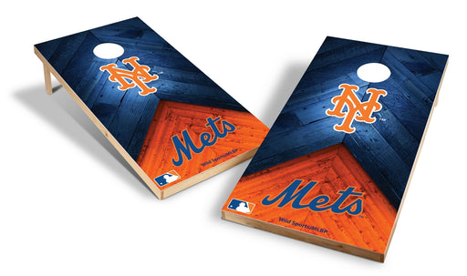 New York Mets 2x4 Cornhole Board Set - Weathered