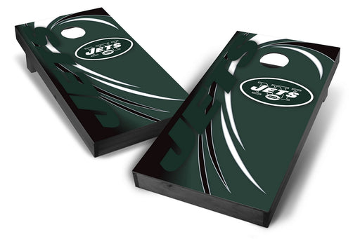 New York Jets 2x4 Cornhole Board Set Onyx Stained - Spiral