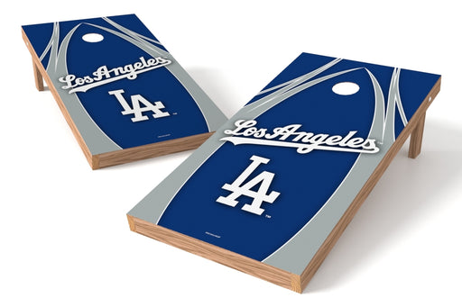 Los Angeles Dodgers 2x4 Cornhole Board Set - Edge