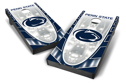 Penn State Nittany Lions 2x4 Cornhole Board Set Onyx Stained - Hot